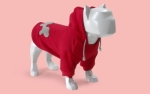 Bull Dogs Cotton Hoodie, Red/Grey