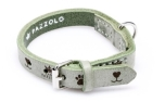 Cane Pazzolo Leather Collar Mint