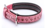 Cane Pazzolo Leather Collar Tender Cp Pink