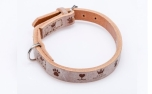 Cane Pazzolo Leather Collar Wood