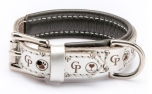Cane Pazzolo The Passion Cp Dog Collar Silver