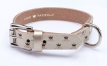 Cane Pazzolo The Passion Crown Dog Collar Wide Gold
