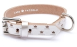 Cane Pazzolo The Passion Crown Dog Collar Wide Silver