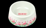 Dashi Flamingo Bamboo Bowl
