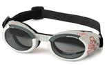 Doggles Hundebrille silber mit Totenkopf