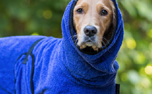 DRYUP cape Hundebademantel, edition blueberry