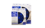 Eat Slow Live Longer Star Blau