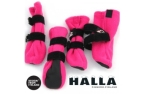 FinNero HALLA Outdoor Fleece-Booties pink