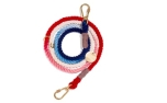 Found My Animal Red White & Blue Ombre Cotton Rope Dog Leash Adjustable