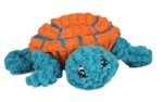 Hugglehounds Ruff-Tex Dude Turtle, orange/teal