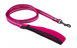 Hurtta Soft Grip Reflective Leash, cherry
