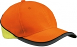 James & Nicholson Neon Reflex Cap, neon-orange/neon-yellow