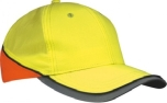James & Nicholson Neon Reflex Cap, neon-yellow/neon-orange