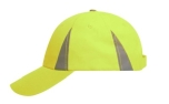James & Nicholson Safety-Cap Baseballkappe, neon-yellow
