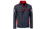 James & Nicholson Softshell Workwear Jacket, carbon/red