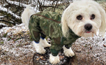 Hurtta Hundeoverall Downpour Suit, camouflage/grün