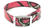 Hundehalsband Biothane Deluxe, camo-pink