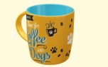 PfotenSchild Tasse Coffee and Dogs