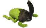 P.L.A.Y. Pet Lifestyle and You Plush Toy Rhino Beetle, Green/Brown