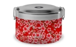 Qwetch Lunch Box Thermo Bento Flowers Red