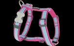 Red Dingo Nylon Hundegeschirr, Fang It Hot Pink