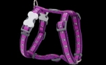 Red Dingo Nylon Hundegeschirr, Pawprint Purple