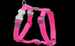 Red Dingo Nylon Hundegeschirr, Uni hot pink