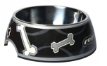 Rogz Bubble Bowlz Futternapf, Black Bone