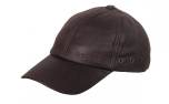 scippis Leather Cap Baseball-Cap, braun