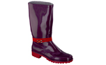 Spirale Gummistiefel New Fashion, rot