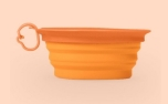 United Pets Leaf Bowl Hundenapf, orange